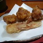 戸隠 - 京地鶏の天ぷら
