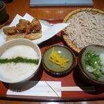 戸隠 - 京地鶏天定食(¥1,500)