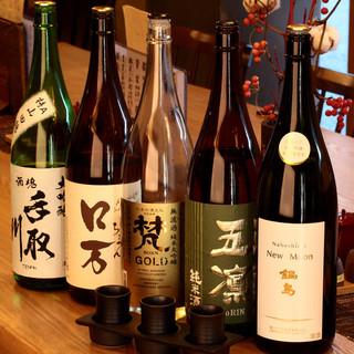 全国から揃えた日本酒は30種類以上★嬉しい650円均一♪