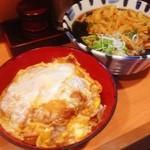 天亀そば - 朝ご飯は、天ぷら蕎麦とカツ丼セット!(^ー^)ノ朝からガッツリいってしまいました(