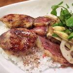 ディライト - フォアグラ+鴨ロースグリル丼(1,600円)