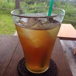 カフェ こくう - こくうプレート&ドリンクセット(1600円)の自家製 梅シロップソーダ