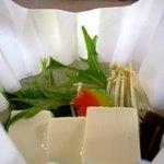 花ごころ - 豆腐の紙鍋
