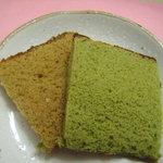 カステラ長崎本舗 - 09/12珈琲味とヨモギ味です。