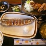 ひの亭 - 2014.09再訪 日替わりランチ(720円)、立派なサンマでした♪