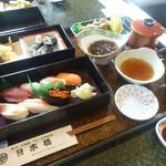 30606625 - 寿司コース(山女魚唐揚付)3,600円