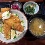 なごみだいにんぐ飛梅 - 〔期間限定〕秋刀魚天丼(¥700)