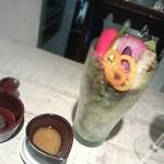30608071 - 高原野菜のサラダパフェ くるみのバーニャ・カウダディップを添えて