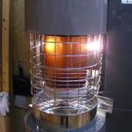 コーヒーロースト - 新型ロースター(旧型は3年で店内を茶色に染めた)