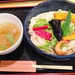 30609841 - 夏野菜と海老塩つけ麺
