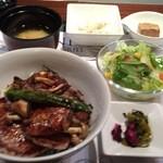グリル アンドウ - ランチ フォアグラビーフステーキ丼¥1800