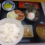 小黒川パーキングエリア(下り線)スナックコーナー - 朝定食
