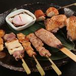 地鶏焼 味くり家 - 料理写真:手打ちの比内地鶏の焼鳥