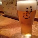 こなから - ロゴ入りのビールグラス