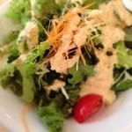 浅草橋ステーキバル - ランチセットのサラダ