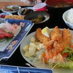 olive - 刺身orエビフライ定食 1000円