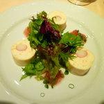 スクレ・サレ - とびこ入りお魚と帆立のムース