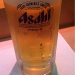 なだや - ビール(550円)。