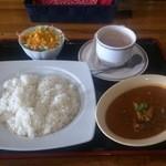 インド料理 ラサニ - ランチAセット(マトンカレー、ライス、チャイを選択)
