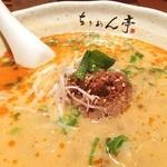 ちりめん亭 - タンタンメン。多加水熟成麺が看板だが、思いっきり芝麻醤に負けている。肉味噌はむしろオロチョンラーメンっぽい