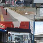 翔山 - 勝盛遊歩道交差点の一角、ボウリング場に併設されています