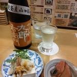 なか屋 - 日本酒「十六代 九郎右衛兵門」旨い。これも隠し酒だそうです^^