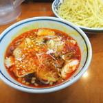 伝丸 - ピリ辛肉つけ麺