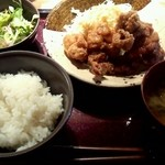 30642374 - やまや 鶏の唐揚げ明太風味定食