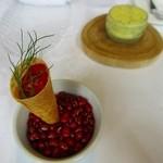 30643026 -                        モッツアレラチーズとトマトのコンフィーのコルネ