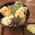 30645108 - ミニ海老天玉丼(ミニ海老天3尾+温玉)430円