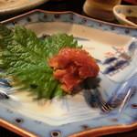 ん。 - 塩ウニ・・絶品、日本酒がススミます・・(´∀`)