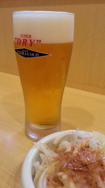 とよ田 - まずはアサヒエクストラゴールドで乾杯!2014.9