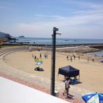 高浜アイランド ノモンズカフェ - 階段状の砂丘はゆったりしていて景観good