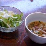 Kunsansouru - ミニうどんとサラダ