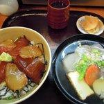 さかな道場 明石 - ランチ・漬け丼セット(1,200円)