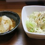 30650919 - コースの胡麻豆腐とサラダ。