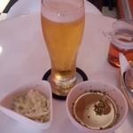 ジェット バー - 生ビール+ランチのカレーにセットのサラダとスープ