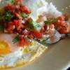 タント テンポ クッチーナ - 料理写真:農場風卵焼き(目玉焼き)トマトサルサライス