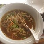 藤木食堂 - 名物カレー焼きそば。ほとんどカレーラーメン。際立つチープさが安定の美味さ。