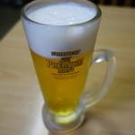 山六食堂 - 生ビール(500円)お代わり