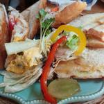 30655755 - ホットサンドイッチ&サラダのプレート