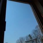 ファームレストラン野島さんち - 窓からの青空