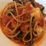 スオーロ・ダル・スオーロ - 茄子とモッツァレラチーズとバジリコのスパゲッティ
