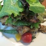 スオーロ・ダル・スオーロ - 前菜:太陽チキンのコンフィ サラダ仕立て