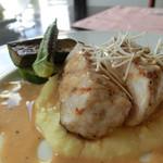 ボンクラージュ - 料理写真:今週のランチ、豚ロース肉のグリル、西洋ワサビのソース