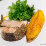 スゥリル - キャラメリゼした鰻とフォアグラコンフィのプレッセ、マンゴーを添えて【2014年9月】