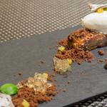 スゥリル - 庄内茄子のタルトタタン、生姜風味のクレームフェッテとソーテルヌのジュレ【2014年9月】