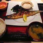 大戸屋 - さんまの炭火焼き美味し!2014/9