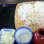 上総屋 - 三色そば(白雪、けし切り、せいろ)