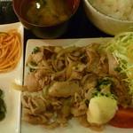 恵比寿和顔 - 生姜焼き定食 税込850円